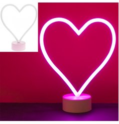 Bring a bright glowing electrified look into your living spaces with this stylish and always popular neon light