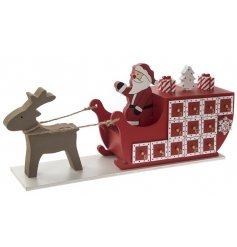Countdown to Christmas with this nordic style advent calendar. Each drawer has a lovely gold handle and number.