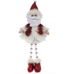 A Large Red Sitting Santa Decoration