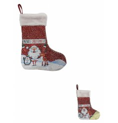A Sequin Merry Christmas Hanging Stocking