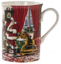 A Classic Christmas Scene Santa Mug