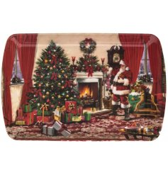 A Small Classic Christmas Scene Santa Tay