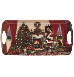 A medium sized Classic Christmas Scene Santa Tay