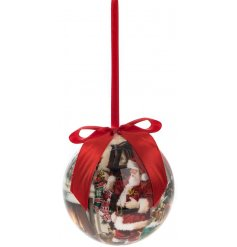 Macneil - Father Christmas Printed Bauble