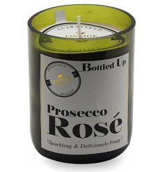 Let the tasty smell of a freshly poured Prosecco Rose seep into your home spaces with this vintage chic candle