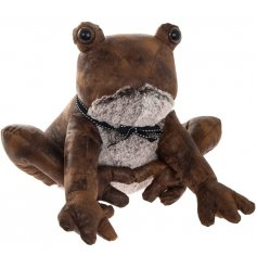 A Faux Leather Sitting Frog Doorstop