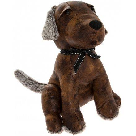 Faux Leather Labrador Doorstop