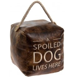Bring a chic country charm tone to your home space with this distressed inspired weighted square doorstop