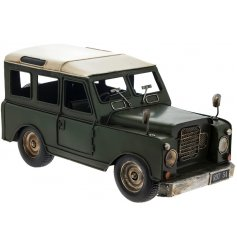 Vintage 4x4 Decoration   Introduce a rustic edge to any home space or display with this stylishly finished metal 4x4 car