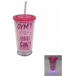 Add some funky LED light to your drinking sessions with this illuminating drinking cup