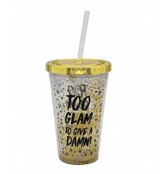 Give this glam looking cup a shake and watch the golden glitter float around the cup