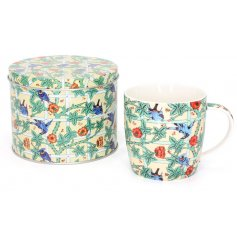 William Kilburn Birds - Mug In A Tin  A beautifully detailed china mug, complete with a matching tin box
