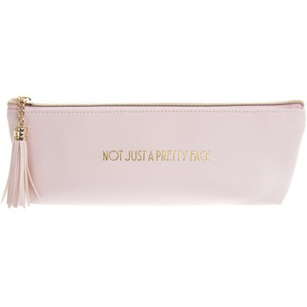 Pink Not Just a Pretty Face Makeup Pouch