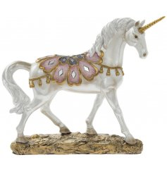An Exotic Art standing Unicorn Ornament