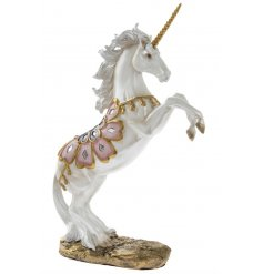 A rearing Exotic Art Unicorn Ornament
