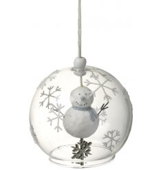 Add a sweet little touch to your christmas tree decor with this hanging glass bauble decoration