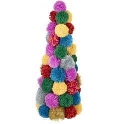 Switch up your traditional home decor this christmas with this absolutely fabulous themed pompom tree