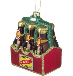 Every christmas tree needs a glittery pack of 6 craft beers hanging from it!