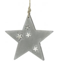 Hung from a jute string, this concrete hanging star will be sure to look perfect in any Rough Luxe themed home