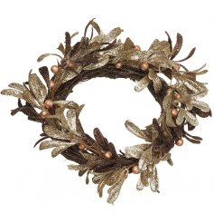 Bring a touch of gold to your home decor this christmas with this beautifully finished wreath