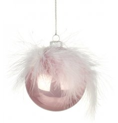 Add a touch of pink to your home this christmas season with this beautifully finished bauble