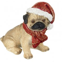Add this adorable little doggy to your christmas decor for a fun festive touch