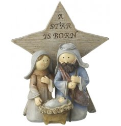 Bring home a traditional festive touch with this beautifully finished resin based nativity star decoration