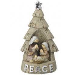 Bring home a traditional festive touch with this beautifully finished resin based nativity tree decoration