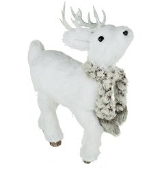 Add a sweet woodland touch to any Winter Wonderland theme with this standing Reindeer decoration