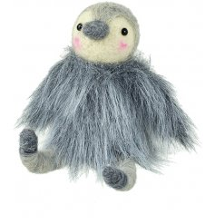 This fabulous little furry coated penguin decoration will be sure to bring a wintery chill touch to your home decor or