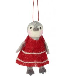 Introduce a sweet little fuzzy woollen touch to your christmas tree or home decor with this adorable little hanging pen