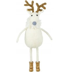 Add a winter winter wonderland touch to your home themes at Christmas with this sweet little standing woolly reindeer