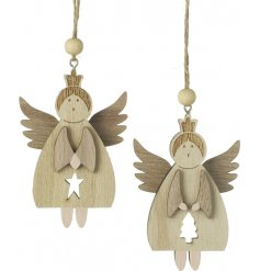 Add an angelic touch to your Christmas tree with these sweet little hanging decorations