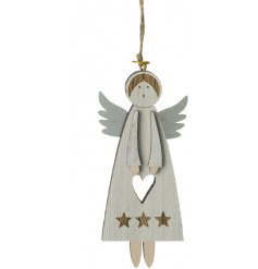Add an angelic touch to your Christmas tree with this sweet little hanging decoration