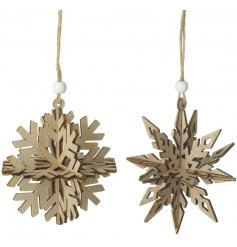Bring a rustic elegant touch to your home decor this festive season with this beautiful assortment of hanging 3D snowfl