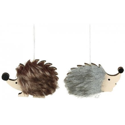 Assorted Hanging Faux Fur Hedgehogs