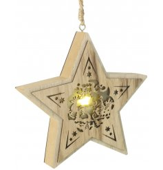 Bring an additional warm glow to your Christmas tree or home decor this season with this beautifully finished hanging w