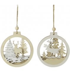 Bring a rustic Winter Woodland touch to any home display or tree this christmas with this beautiful assortment