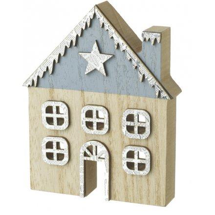 Wooden Festive House Decoration