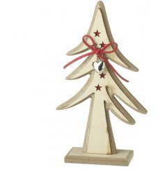 A rustic wooden decoration, perfect for any themed festive display at Christmas