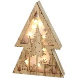 Invite a beautiful cozy glow into your home decor this festive season with this Winter Woodland themed light up tree
