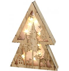 Produce a cozy glow into your home spaces with this beautifully finished LED Woodland Scene Light decoration