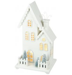 A White Light Up LED House