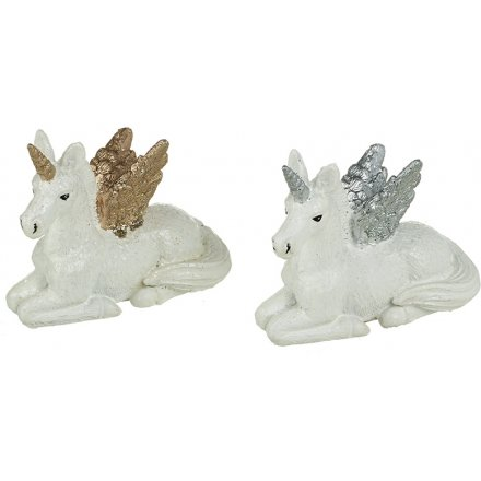 Sparkly Sitting Unicorns, 2 Assorted