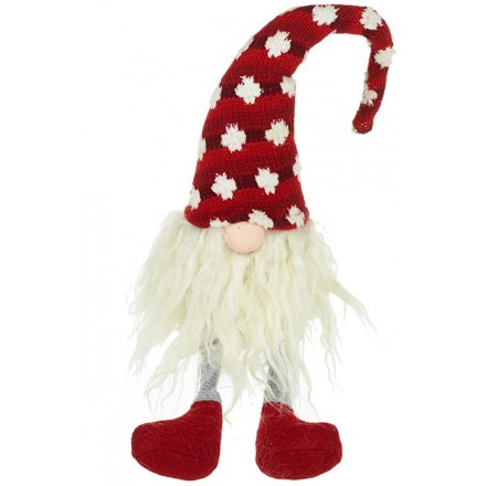 Sitting Santa Gonk With Red & White Spots 40cm