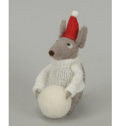 This adorable fuzzy little friend will be sure to stand perfectly in any themed home or display this Christmas season