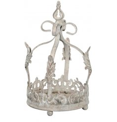 A beautifully distressed decorative crown, perfect for any Rustic Living inspired home decor