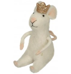Bring a pretty princess feel to any bedroom or home space this festive season with this sweet and fuzzy woollen princes