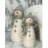 This charming little glitter covered snowman will be sure to add a sweet wintered touch to any home space