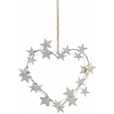 Hanging Heart With Star Decal